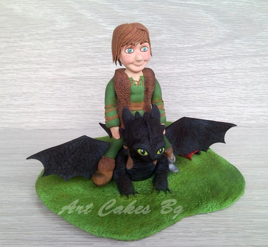Hiccup And Toothless Cake Topper Cakecentral Com