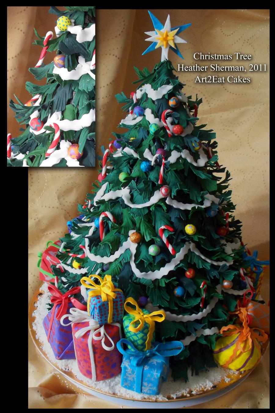 Christmas Tree Cake Cake By H Sherman Art2eat Cakes