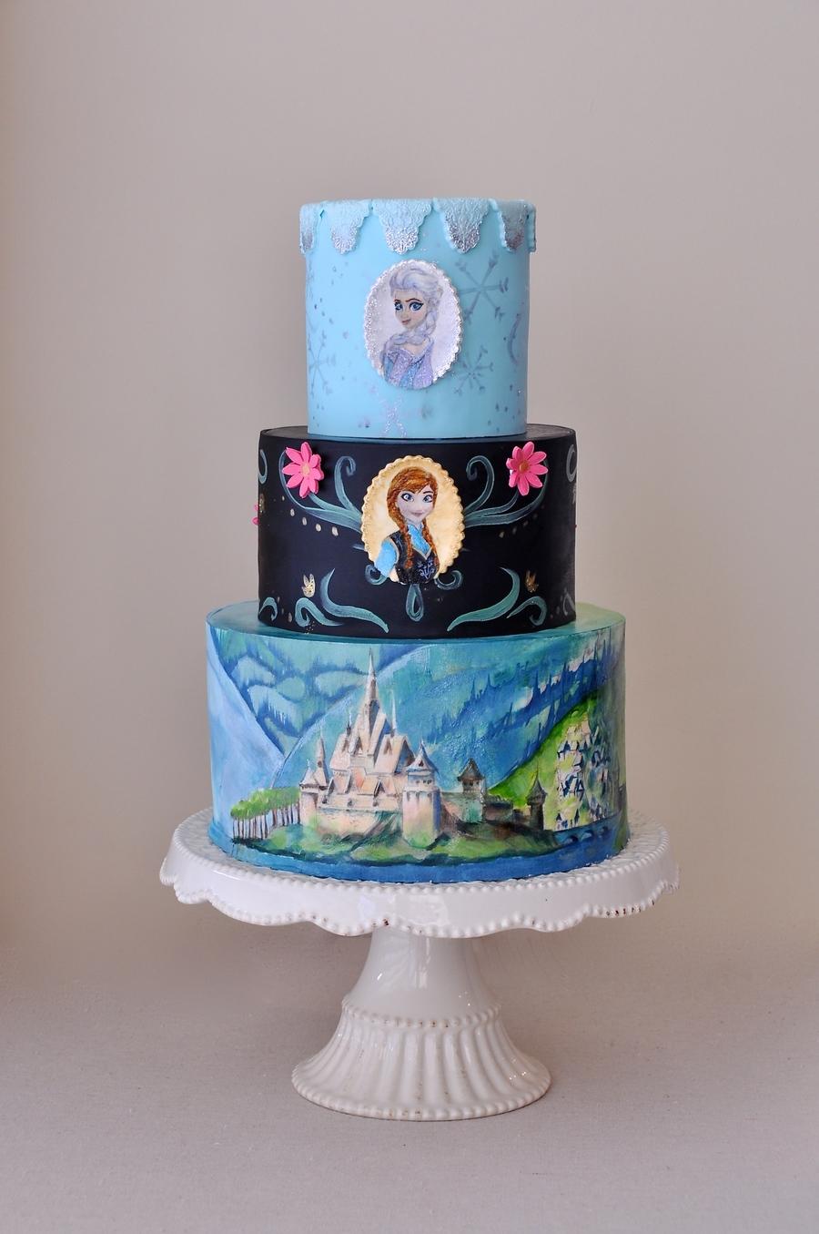 Frozen Themed Cake Designed By Ashley Steinhauer Blush