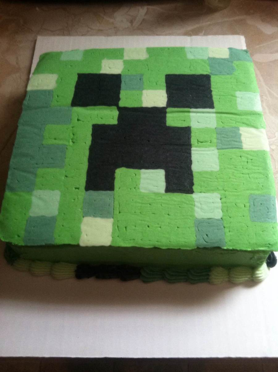 Minecraft Creeper Buttercream Transfer Cakecentral Com