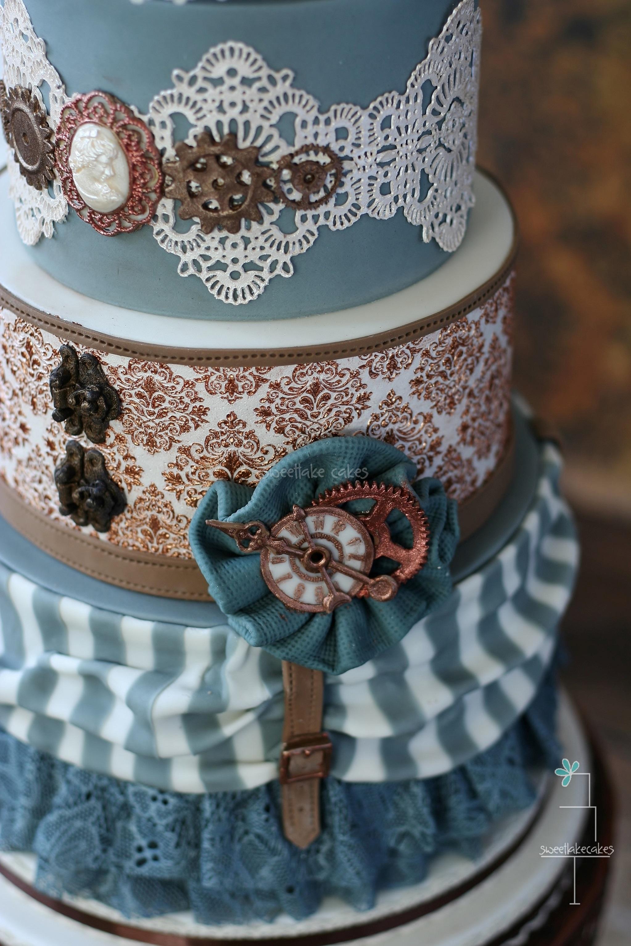 Steampunk Wedding Cake Cakecentral Com