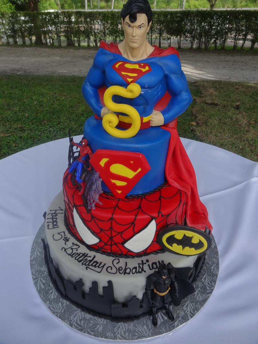 Super Hero Cake Cakecentral Com
