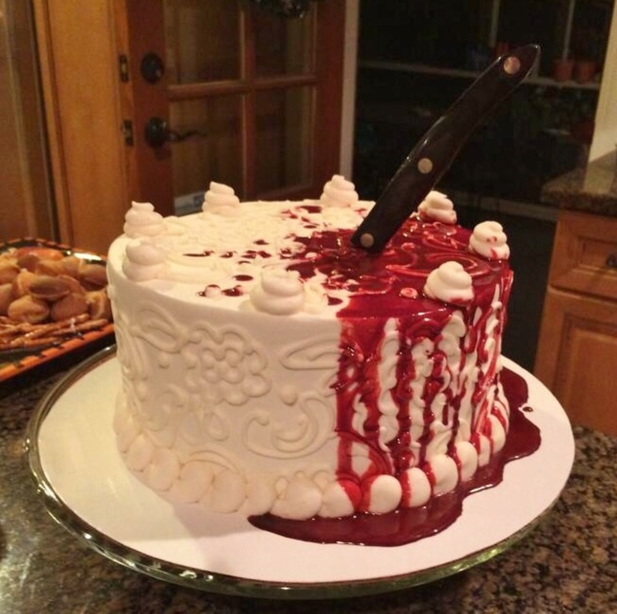 Halloween Bloody Knife Cake Cakecentral Com
