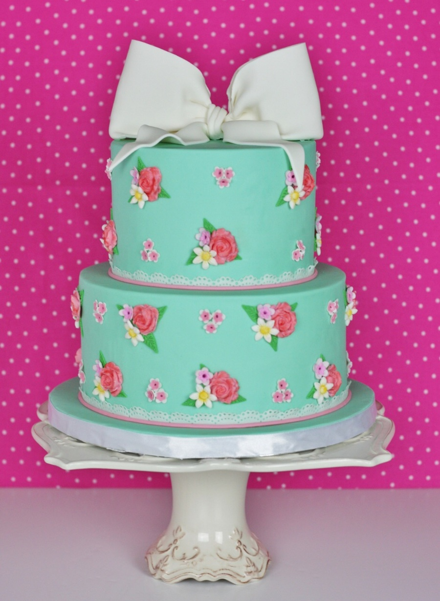 Shabby Chic Baby Shower Cake Cakecentral Com