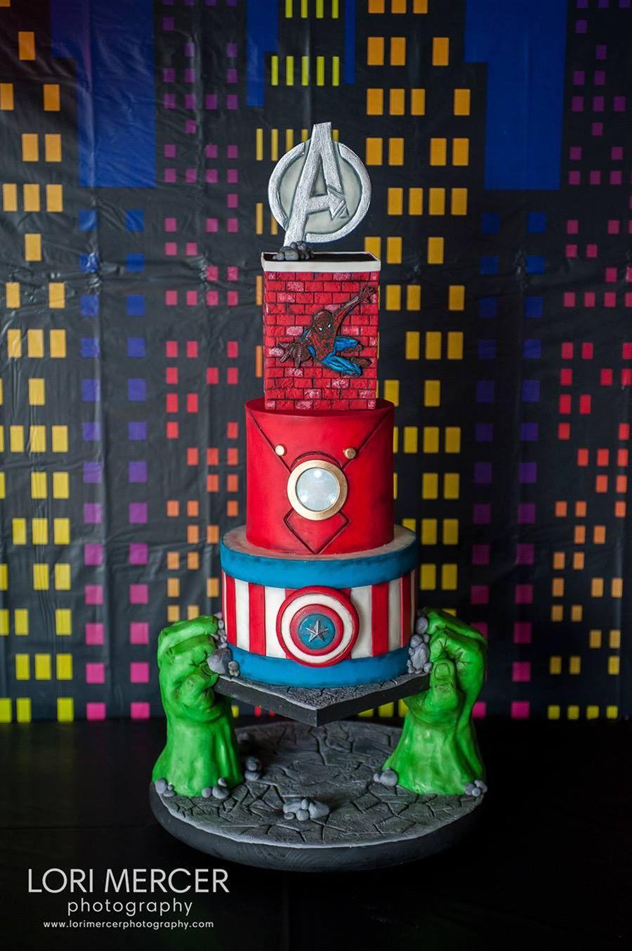Avengers Super Hero Cake Holden S Style Cakecentral Com