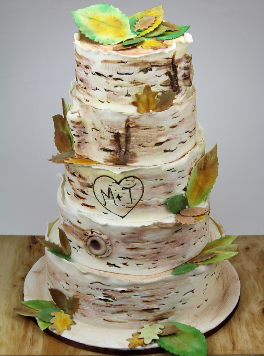 Birch Tree Wedding Cake Cakecentral Com