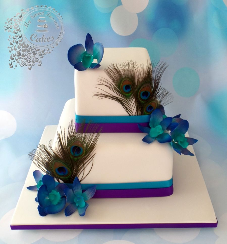 Peacock Wedding Cake   CakeCentral com Peacock Wedding Cake on Cake Central