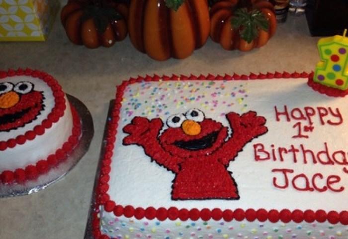 Elmo Cake Decorating Photos