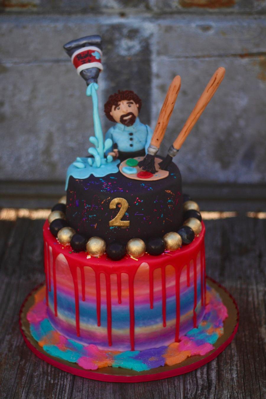 Bob Ross Art Cake Cakecentral Com