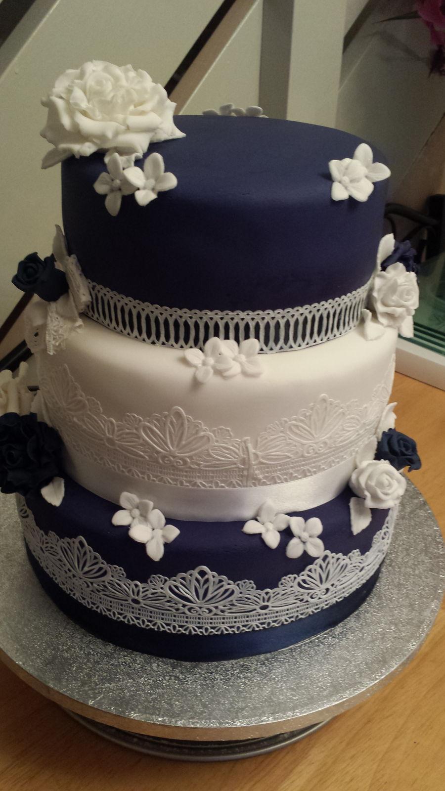 Vintage Edible Lace Wedding Cake Cakecentral Com