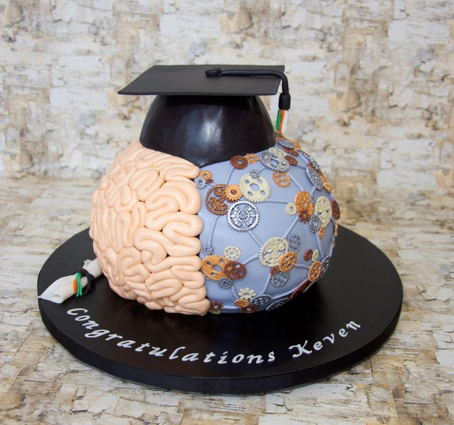 Brain Graduation Cake Cakecentral Com