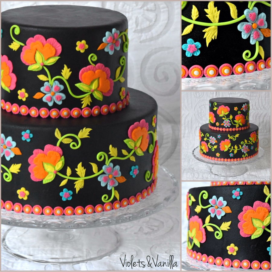 Embroidery Themed Cake Cakecentral Com