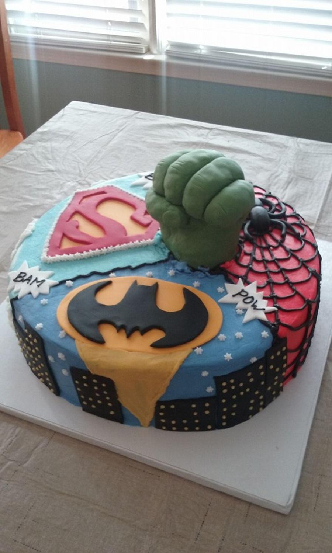 Super Hero Birthday Cake Cakecentral Com