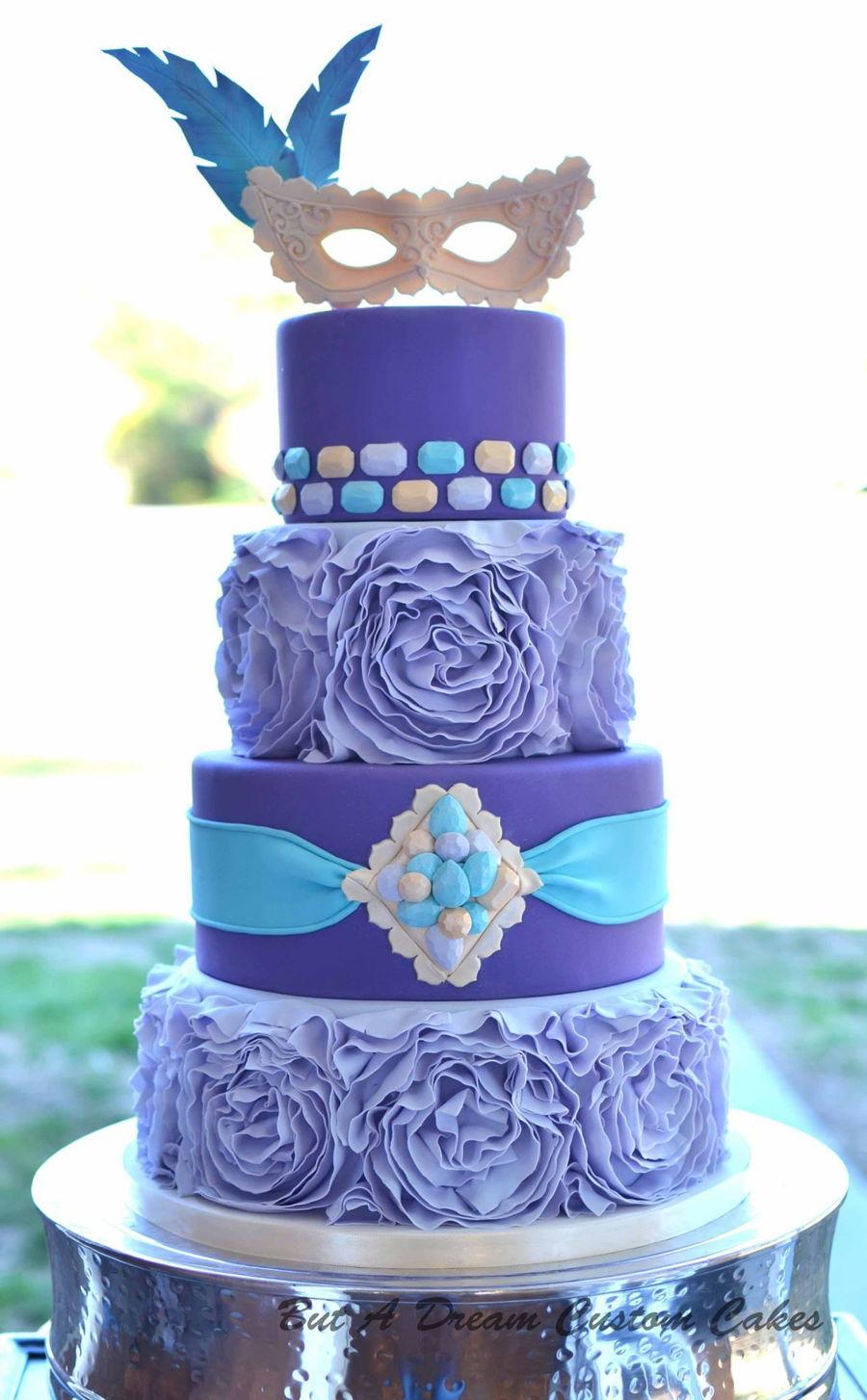 Quincea 241 Era Masquerade Cake Cakecentral Com