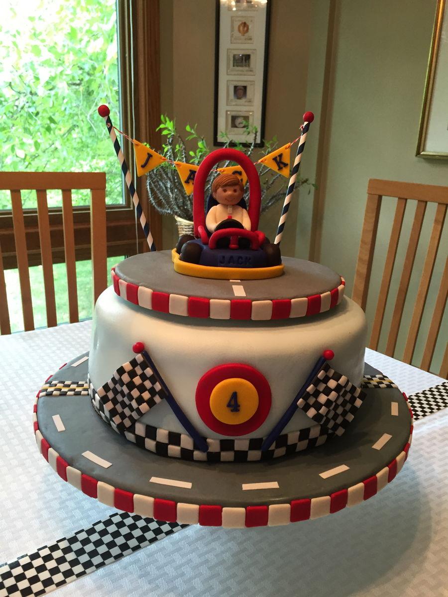 Jack S Go Kart 4th Birthday Cake