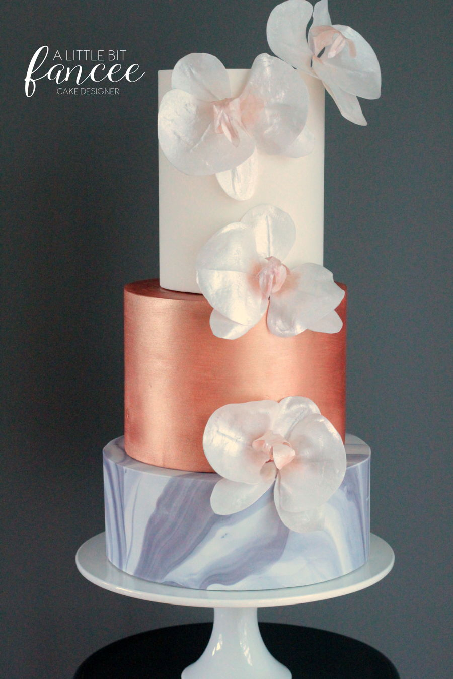 Marble Metallics And Moth Orchids Cakecentral Com