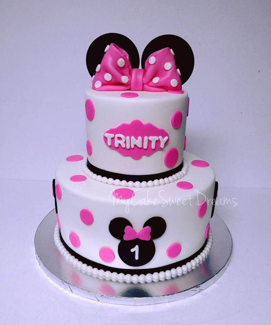 1st Birthday Minnie Mouse Cake 1st Birthday Ideas
