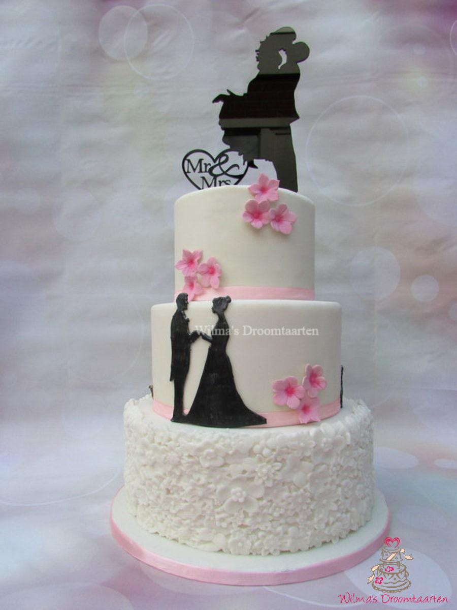 Silhouette Wedding Cake Cakecentral Com