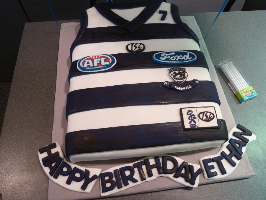Afl Footy Cats Cake Cakecentral Com