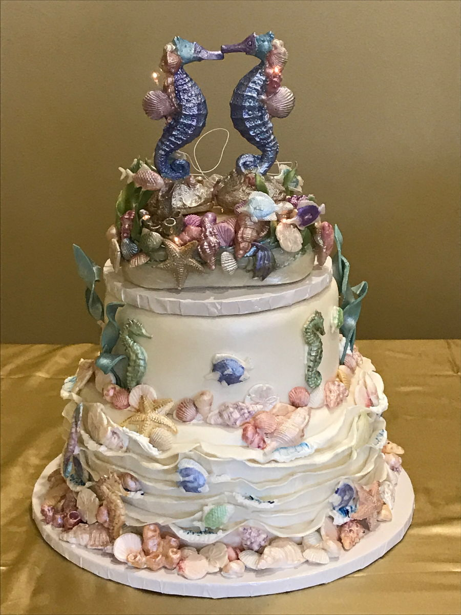 Under The Sea Wedding Cake Cakecentral Com