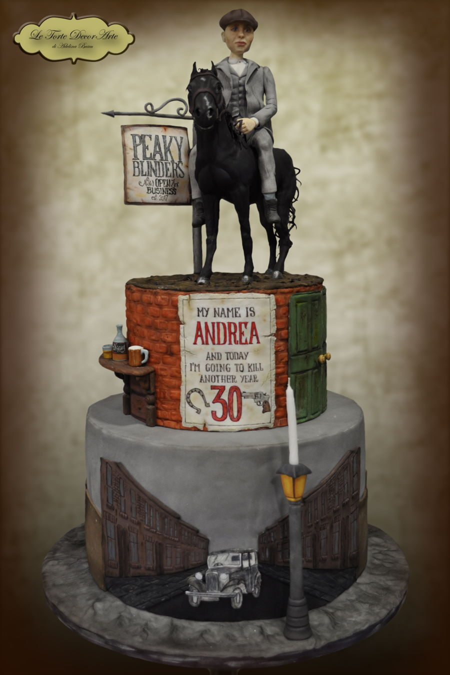 Peaky Blinders Themed Cake Cakecentral Com