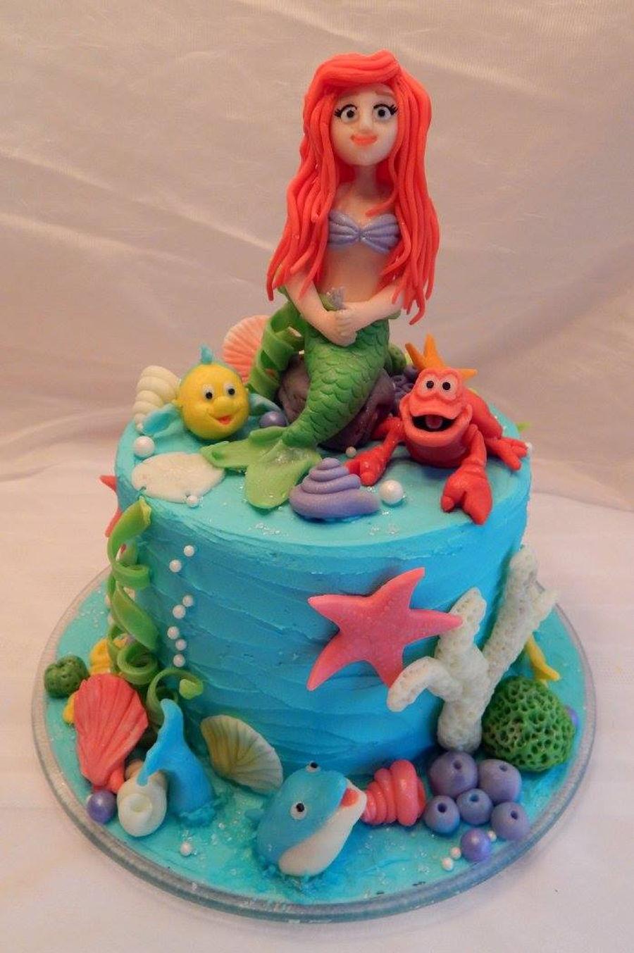 Little Mermaid Cake Cakecentral Com