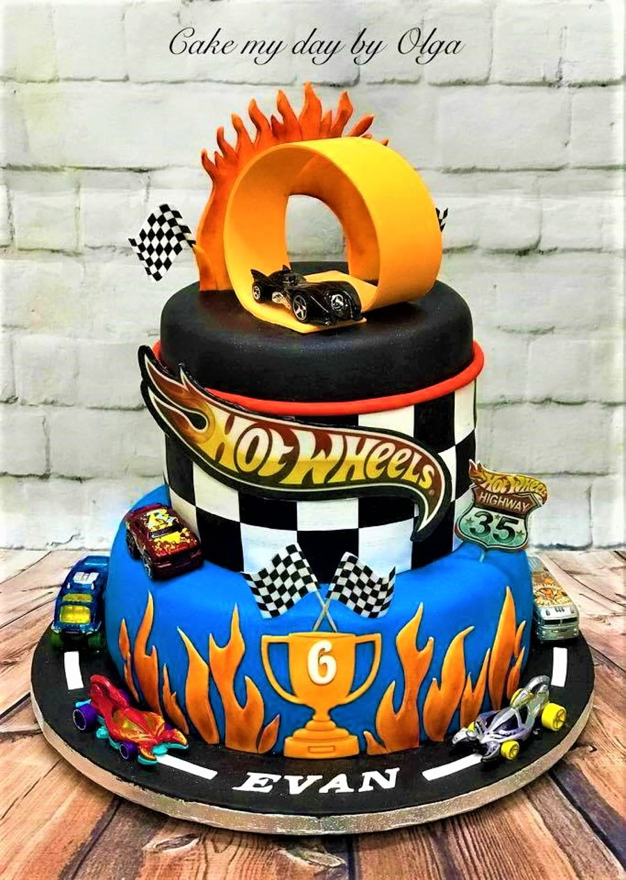 Hot Wheels Birthday Cake Cakecentral Com
