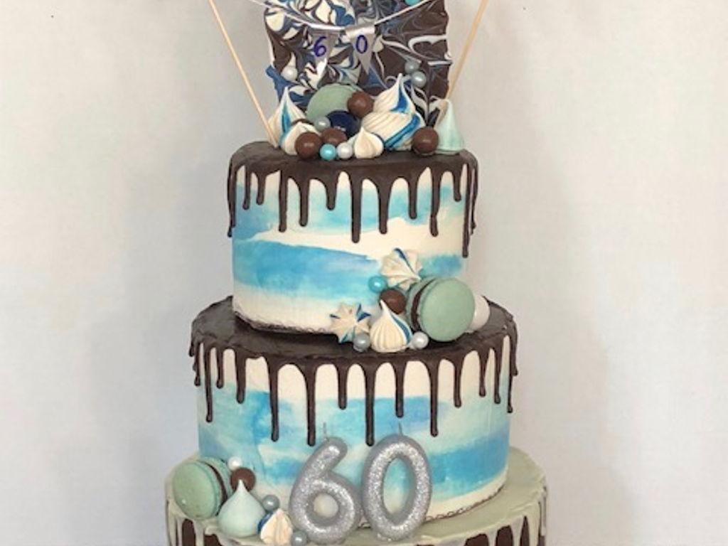 60th 3 Tier Birthday Cake Cakecentral Com