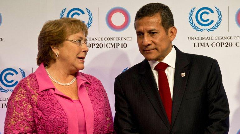 Michelle Bachelet y Ollanta Humala