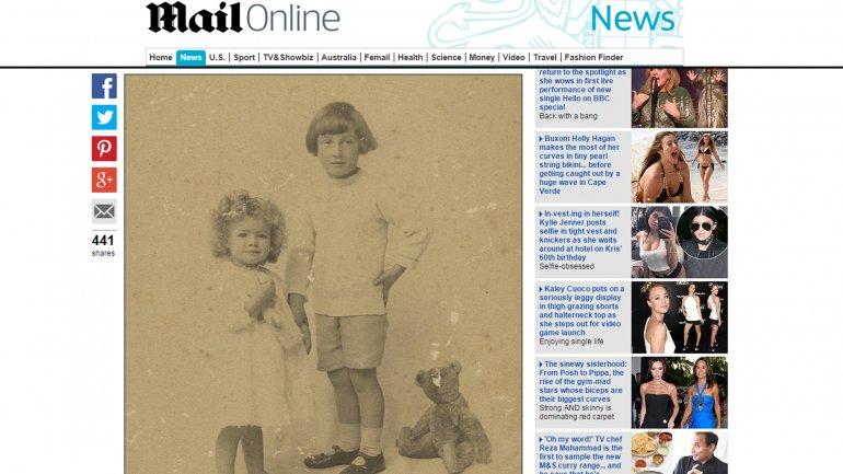La foto de los hijos deE.H. Shepard y su ositoGrowler, en el Daily Mail