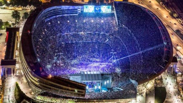 Grateful Dead en el estadio Soldier Field, Chicago. Crédito:David G. Oppenheimer