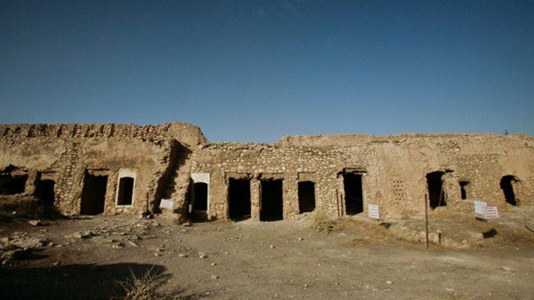 El monasterio San Elías cuando todavía estaba en pie