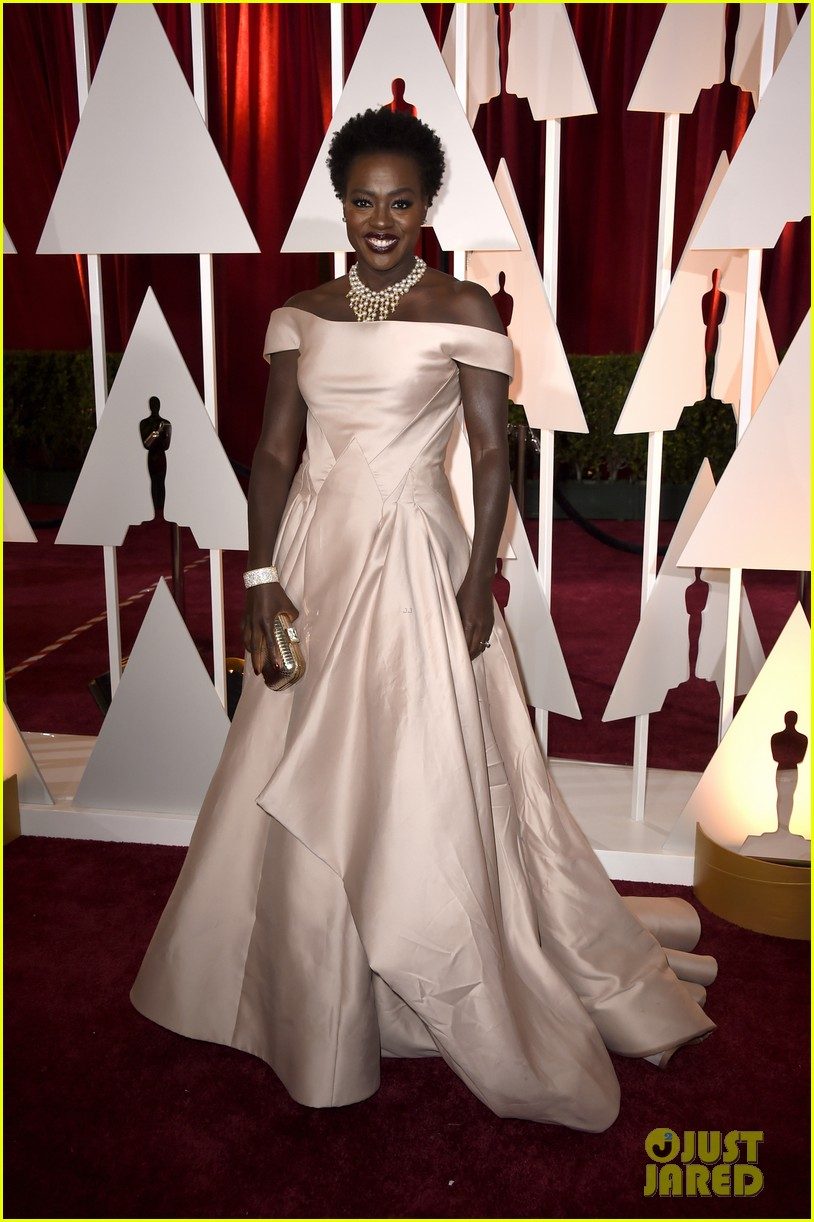 viola davis oscars 2015 red carpet 04