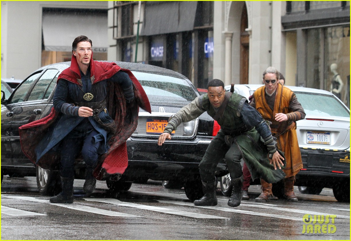 benedict cumberbatch films doctor strange in nyc first pics 35
