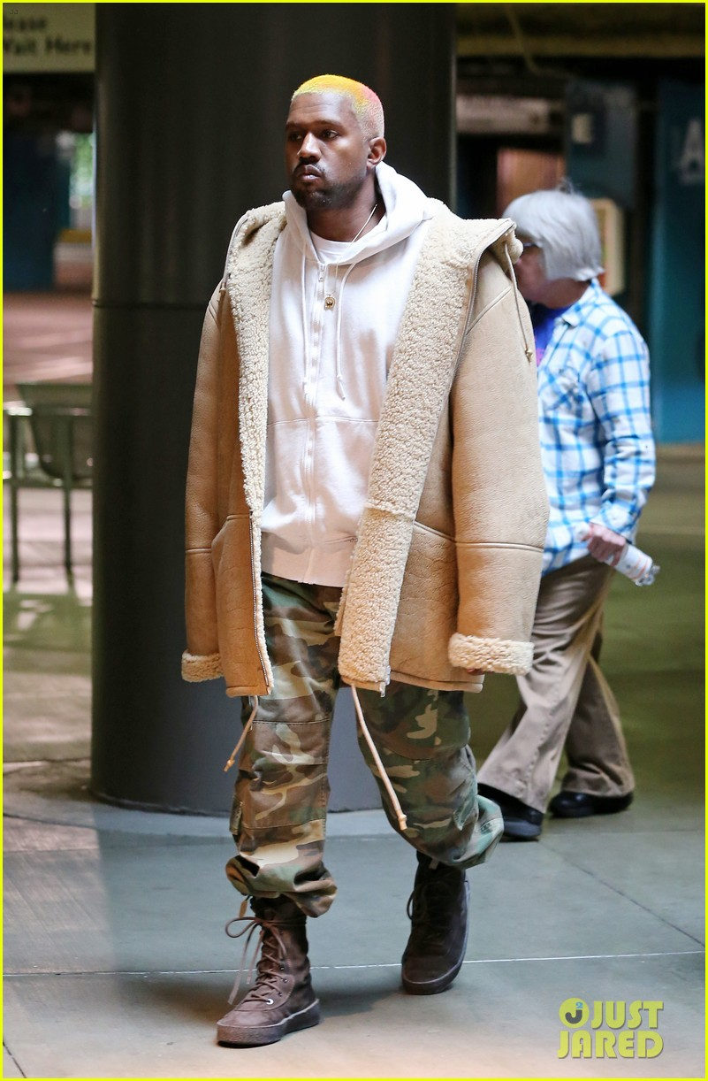 Kanye West Debuts New Multi Colored Hair After Christmas