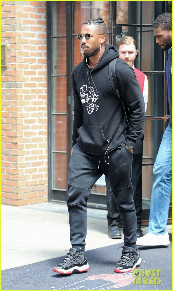 Michael B Jordan Checks Out Of The Bowery Hotel After Met