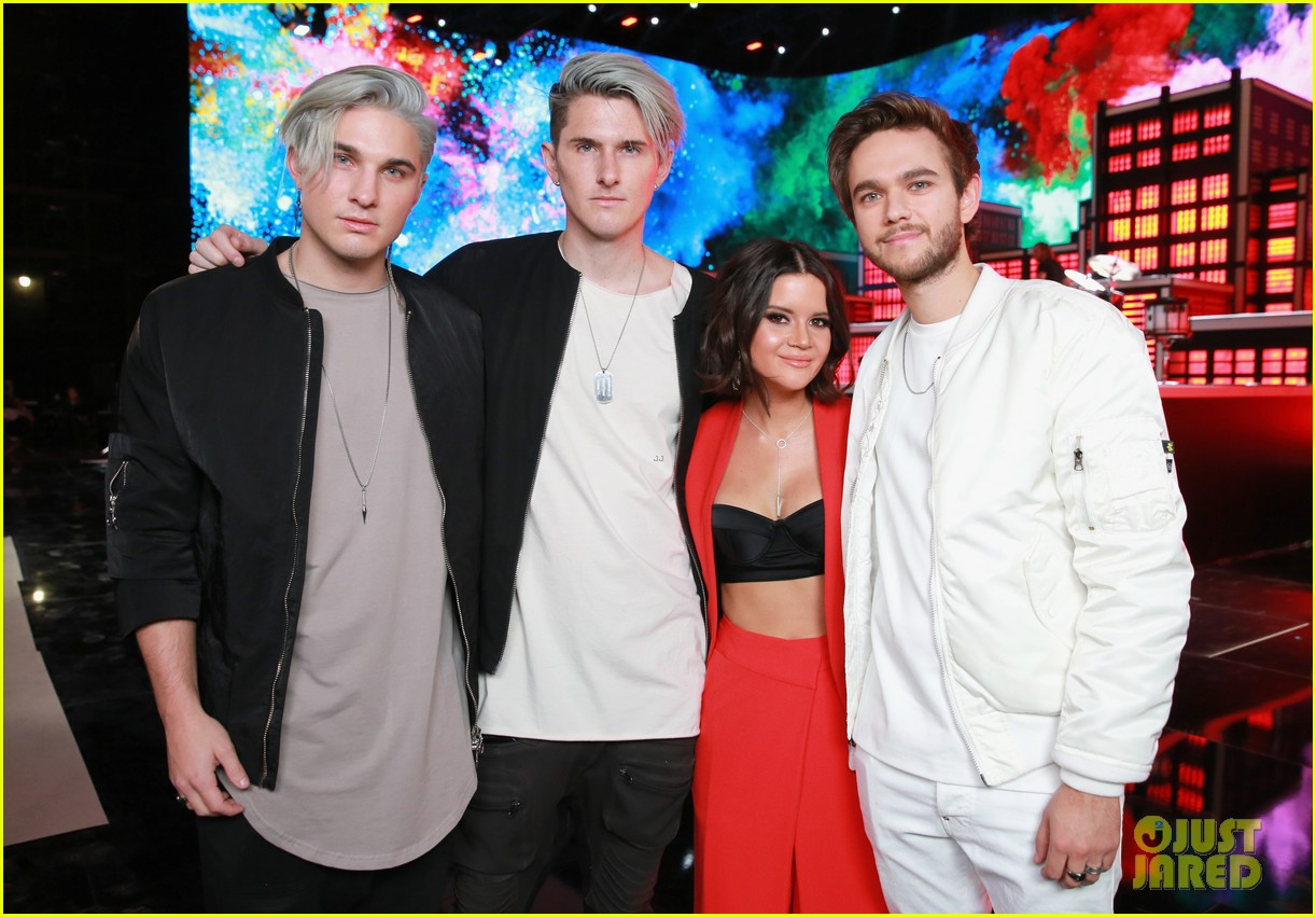 From left to right: Grey (duo), Maren Morris and Zedd the middle
