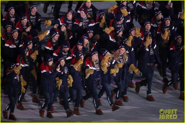 Team USA Athletes at the 2018 opening ceremony