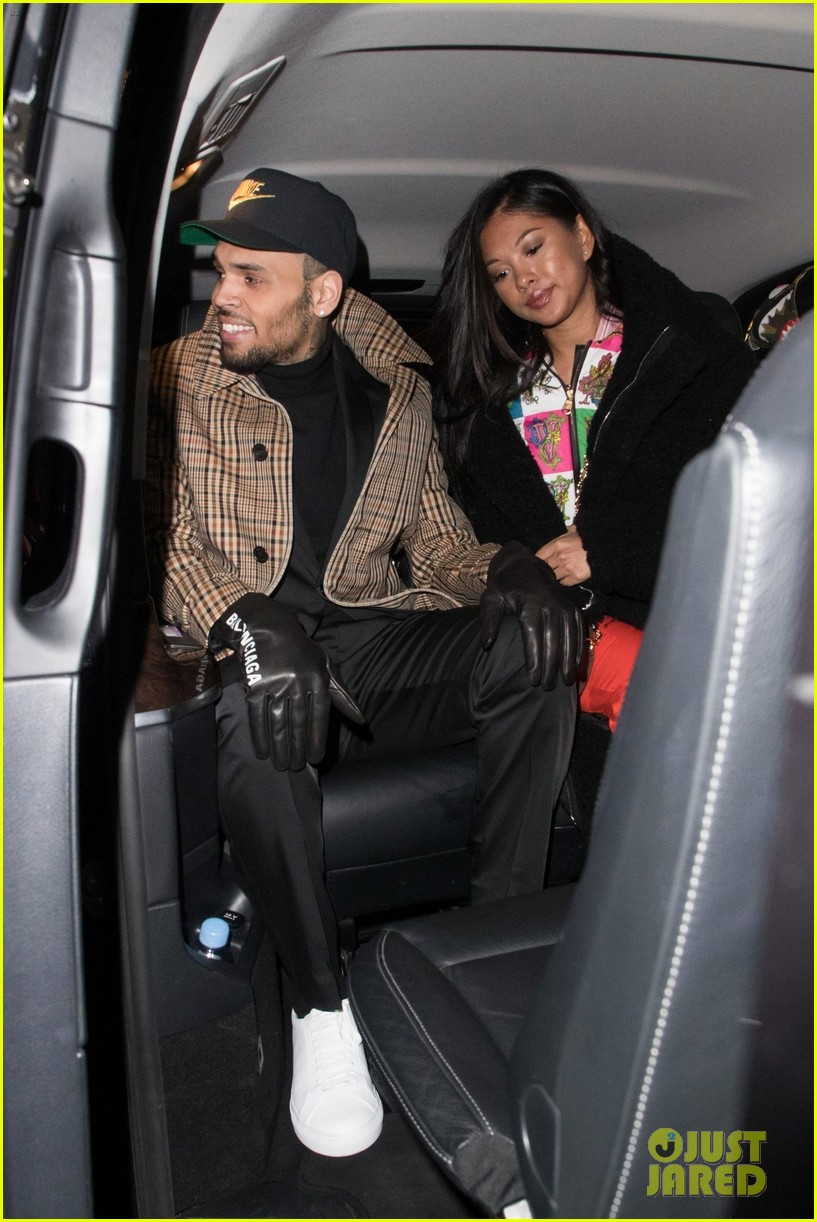 Chris Brown Emerges In Paris With Ammika Harris After