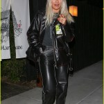 Rita Ora Wears A Leather Outfit For Dinner At Sushi Restaurant Photo 4215347 Rita Ora Pictures Just Jared