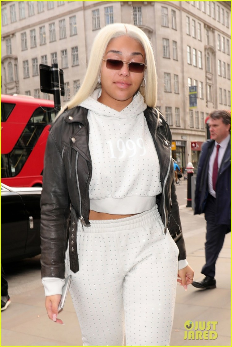 Jordyn Woods Steps Out with New Blonde Hair in London ...