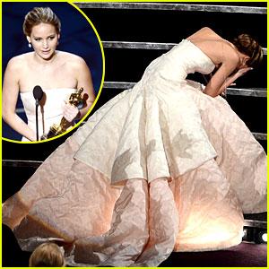 Jennifer Lawrence Falling