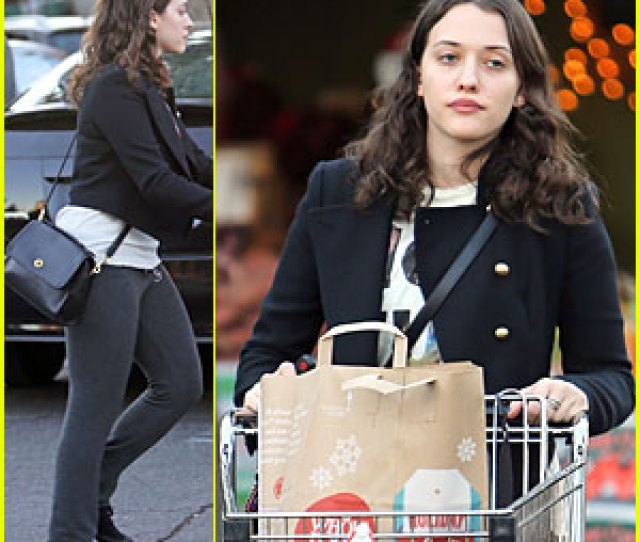 Kat Dennings Last Minute Thanksgiving Grocery Shopping