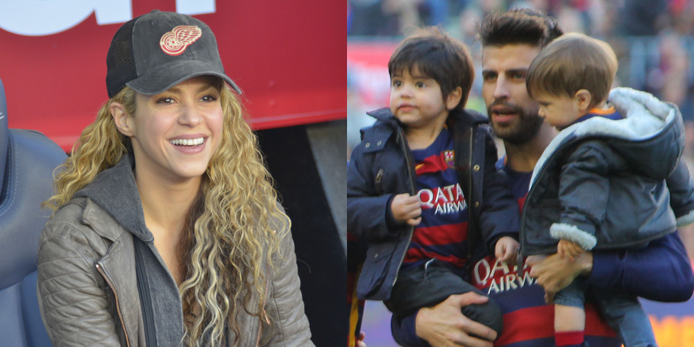 Image result for shakira and pique and their children