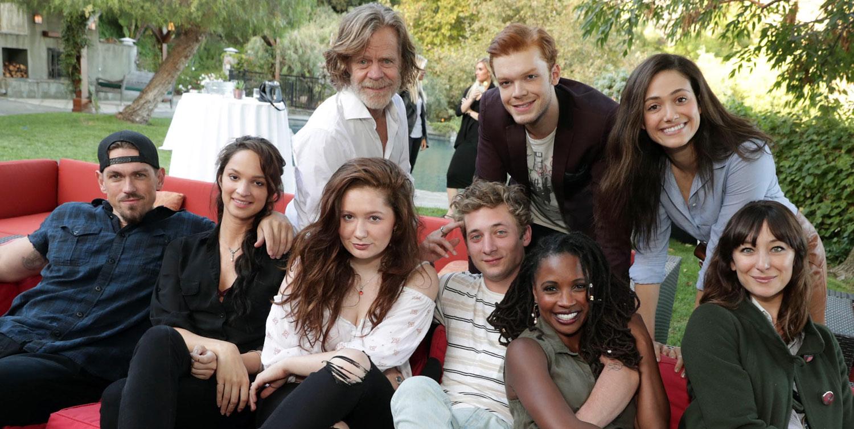 Emmy Rossum Amp Shameless Cast Watch Season 7 Premiere At
