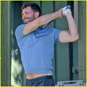 Jamie Dornan Flaunts His Biceps at the Driving Range!