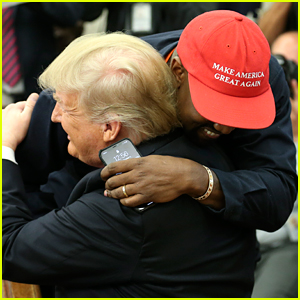 Kanye West Hugs Donald Trump, Speaks for 10 Minutes During White House Visit