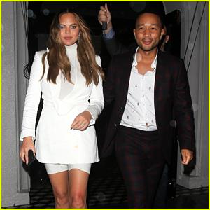 John Legend & Chrissy Teigen Head Out for a Rainy Date Night!