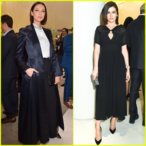 Caitriona Balfe & Camilla Belle Step Out in Style for Armani's Pre-Oscar Party!