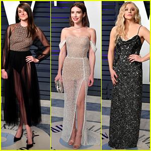 Shailene Woodley, Emma Roberts, & Chloe Moretz Get Glam for Vanity Fair's Oscars 2019 Party